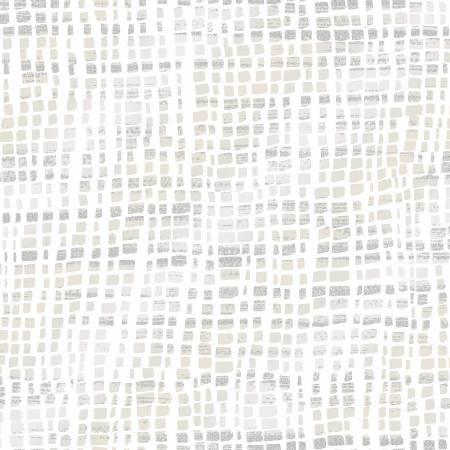 Shiny Objects Glitz and Glamour by RJR Studio for RJR Fabrics - Silk Scarf - White Dove - Metallic
