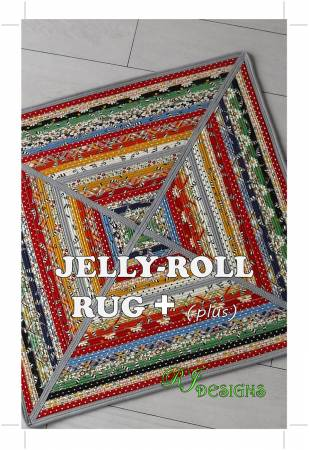 Jelly Roll Rug Plus Complete Pattern and Instructions from R.J. Designs