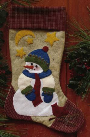 Snowman Stocking Kit designed by Rachels of Greenfield