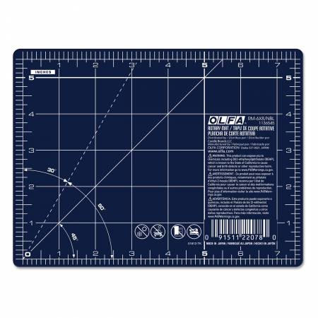 RM-6X8-NBL 6in x 8in Navy Cutting Mat