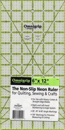 Omnigrid Omnigrip Neon Ruler 6in x 12in