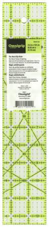 Omnigrid Omnigrip Neon Ruler 2-1/2in x 12-1/2in