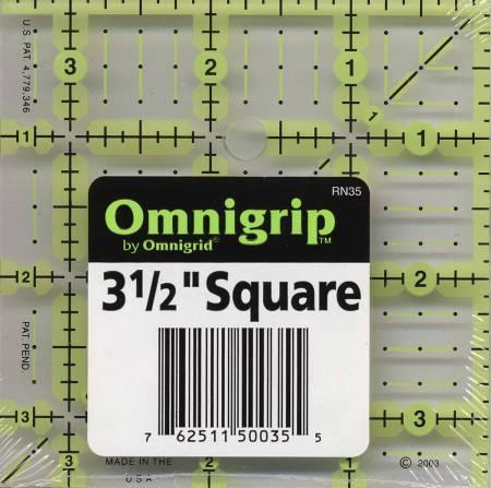 Omnigrid Omnigrip Neon Ruler 3-1/2in x 3-1/2in