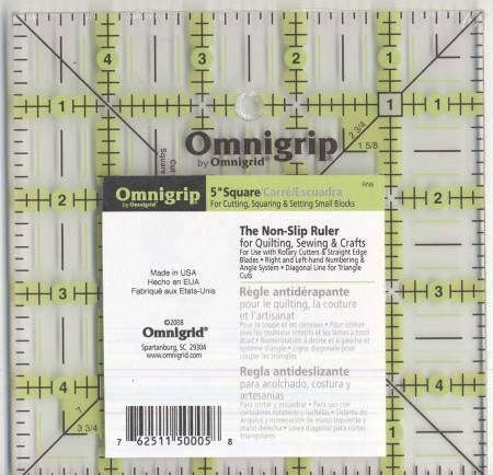 Omnigrid Omnigrip Neon Ruler 5in Square