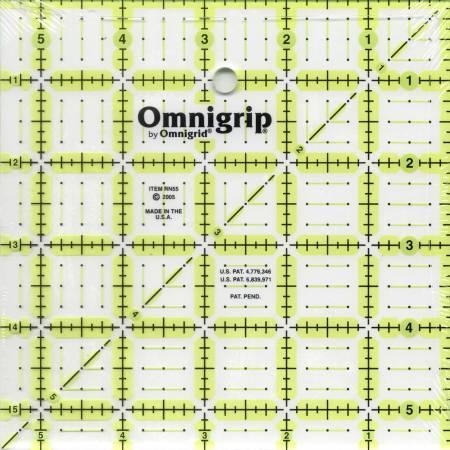 Omnigrid Omnigrip Neon Ruler 5 1/2 x 5 1/2