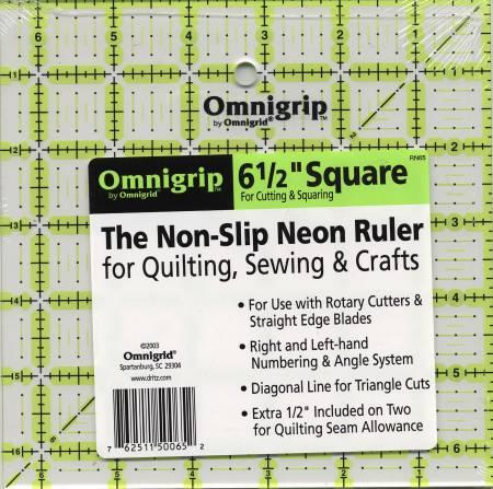 Omnigrid Omnigrip Ruler 6-1/2in x 6-1/2in