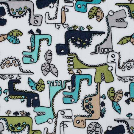 Teal Roar Cuddle Print 58-60