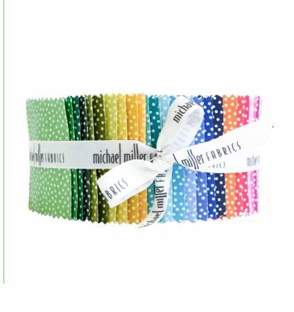 2.5 Fabric Strips Garden Pindot