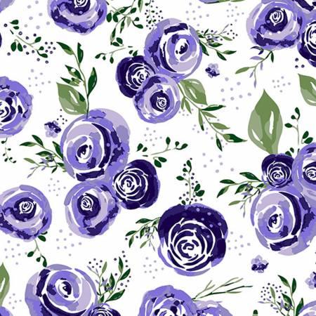 Eggplant Rosie Cuddle Print