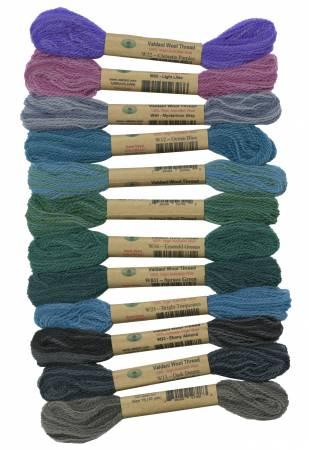 Valdani Wool Thread Sampler - Roaring Ocean