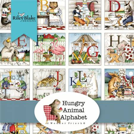 Hungry Animal Alphabet 2-1/2in Strips, 40pcs, 3 bundles/pack