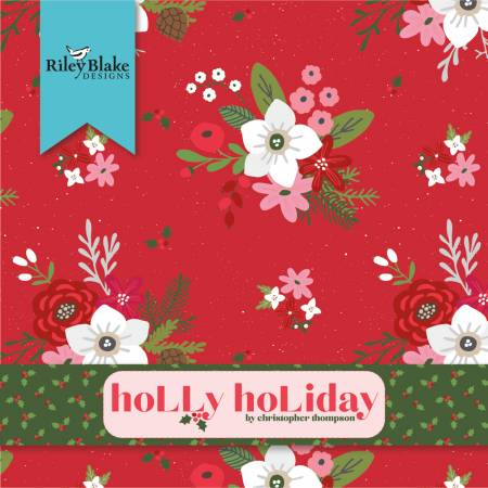 Holly Holiday 2-1/2in Jelly Roll Strips 40pcs/bundle