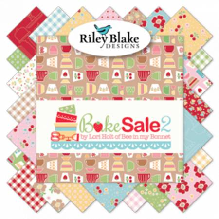 Item#11009.JR - Bake Sale 2 - 2.5 Rolie Polie - Jelly Roll - Riley Blake - Lori Holt