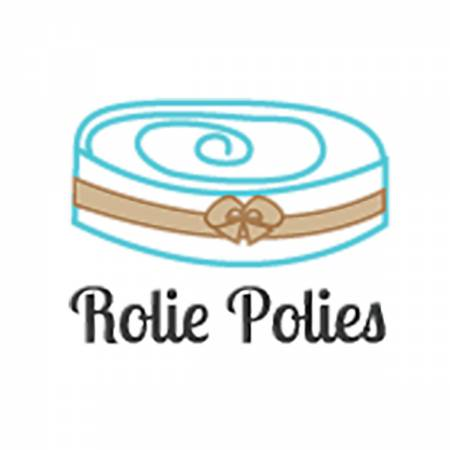 Stitched Circle White 2.5 Rolie Polie 40 Pcs