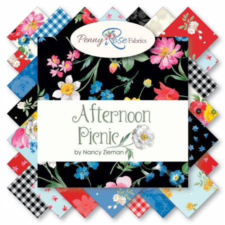 Riley Blake - Afternoon Picnic 2-1/2In Strips 40 Pcs