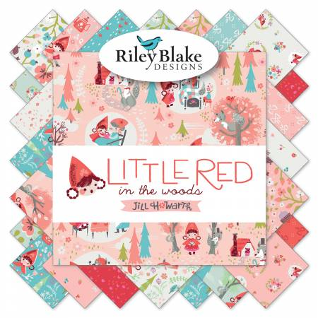 Riley Blake Little Red In The Woods 2-1/2in Strips, 40pcs