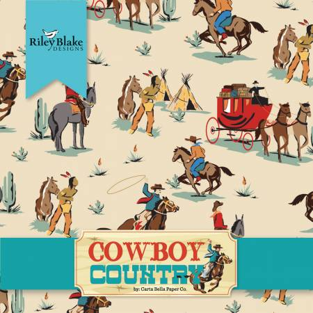 Riley Blake Cowboy Country Jelly Roll