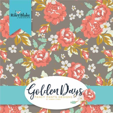 Riley Blake 2-1/2in Strips Golden Days 40pcs