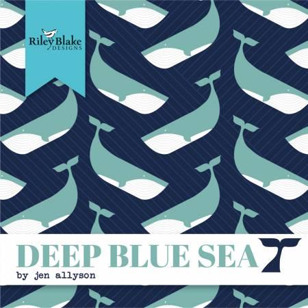 2-1/2in Strips Deep Blue Sea, 40pcs,