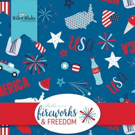 Fireworks & Freedom 2-1/2 Strips 40pc. Jelly Roll