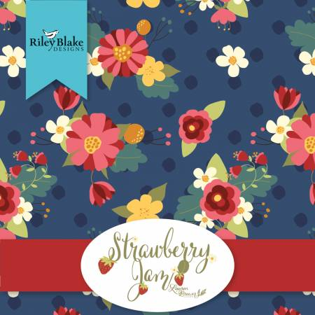 Strawberry Jam 2-1/2in Strips, 40 pcs,