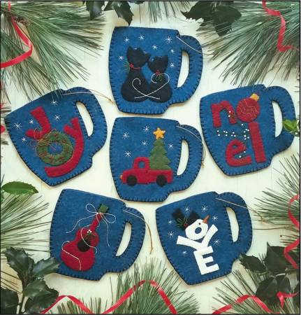 Merry Mugs Ornament Pattern
