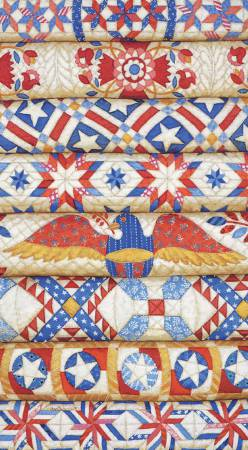 2 Year Pocket Calendar Stacked Patriotic Quilts With Eagle 18/19