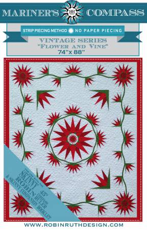 Flower and Vine Quilt Pattern-Robin Ruth