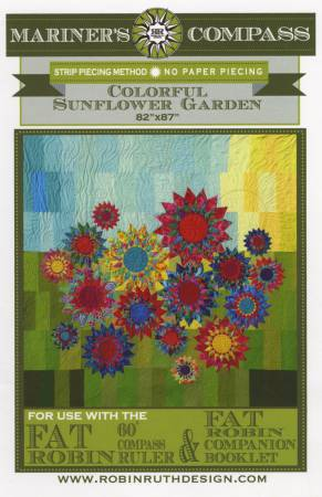Robin Ruth Design Colorful Sunflower Garden Pattern