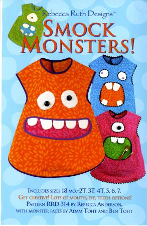 Smock Monsters Apron Pattern for Children - by Rebecca Ruth Designs