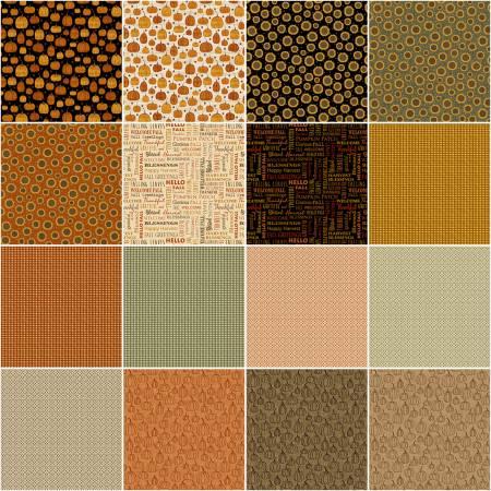 10in Squares Rustic Fall, 42pcs/bundle