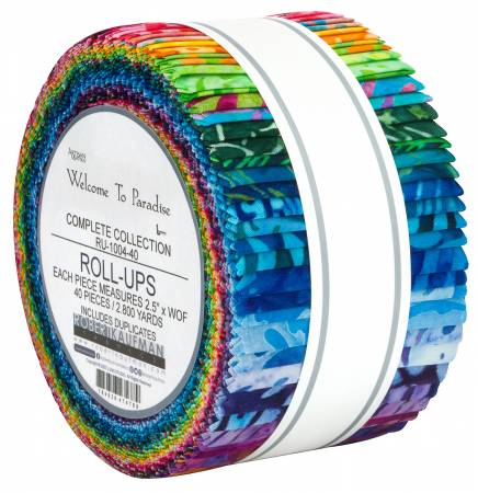 RU-1004-40 2-1/2in Strips Welcome to Paradise Batik, 40pcs/bundle