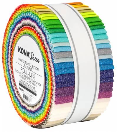 RU-1014-40 2-1/2in Strips Kona Sheen, 40pcs/bundle