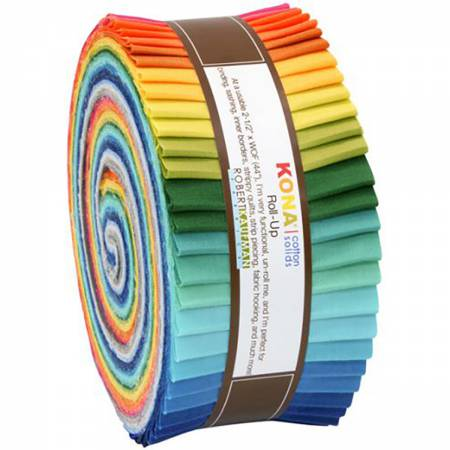 2-1/2in Strips Roll Up Kona Solids Summer Colorway 40pcs