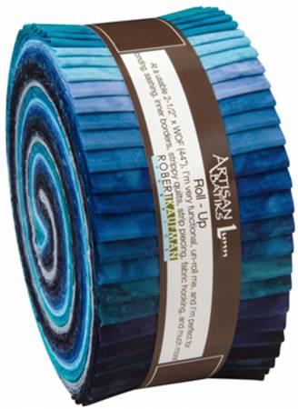 2-1/2in Strips Prisma Dyes Open Waters, 40pcs/bundle