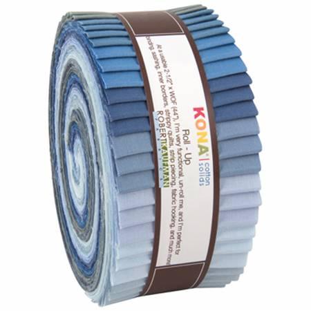 2-1/2in Strips Kona Cotton Overcast 40pcs