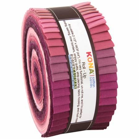 2-1/2in Strips Kona Cotton Powder Room 40pcs