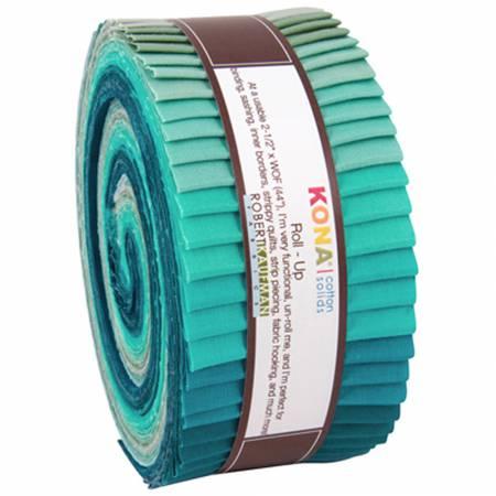 2-1/2in Strips Kona Cotton Midnight Oasis 40pcs