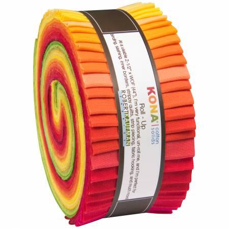 2-1/2in Strips Kona Cotton Christa Watson Designer Palette 40pcs