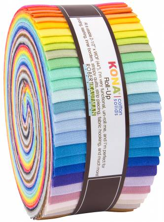 2-1/2in Strips Kona Solids New 2017 Colors 40pcs/bundle