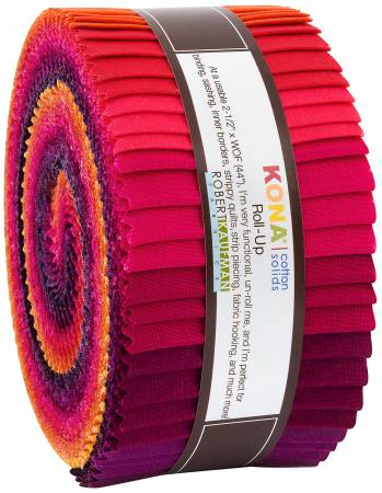 2-1/2in Strips Kona Cotton Birds of Paradise Palette, 40pcs/bundle
