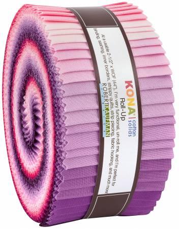 2-1/2in Strips Kona Cotton Wildberry Palette, 40pcs/bundle