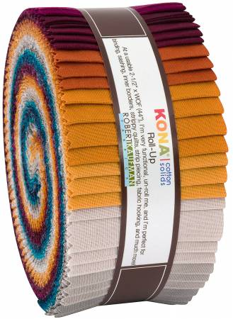 2-1/2in Strips Kona Cotton Tuscan Skies Palette, 40pcs/bundle
