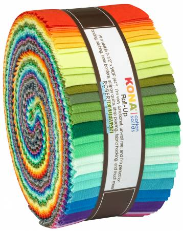 2-1/2in Strips Kona Cotton 2019 New Colors, 40pcs/bundle