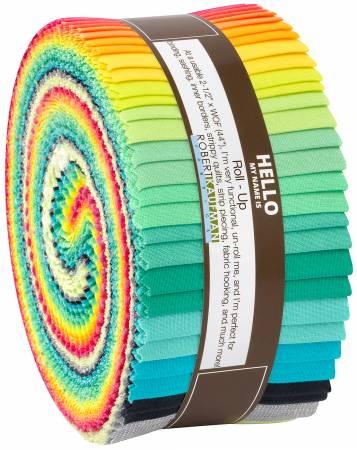 Paintbox Coordinates Curated by Elizabeth Hartman 2-1/2in Strips Kona Solids 40pcs/bundle