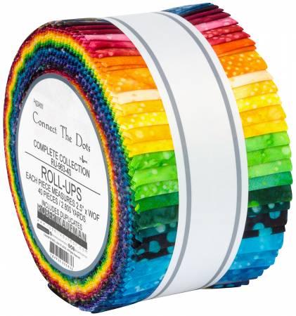 **2-1/2in Strips Connect The Dots Batik, 40pcs/bundle