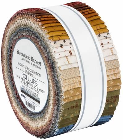 2-1/2in Strips, Homestead Harvest, 40pcs/bundle