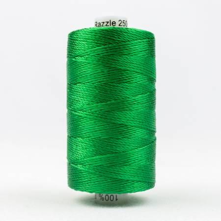 Razzle 8wt 6ply Rayon 229m Brilliant Green