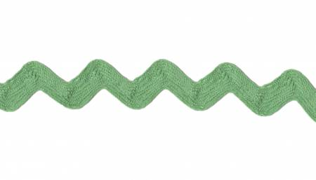 Ric Rac Lime Green 3/8in Cotton