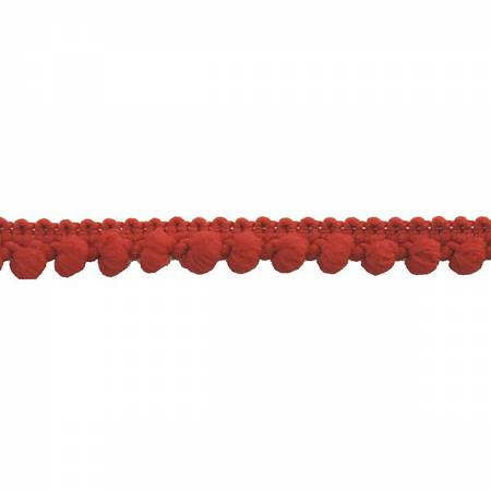 PFA 3/8in Pompom Trim  Red